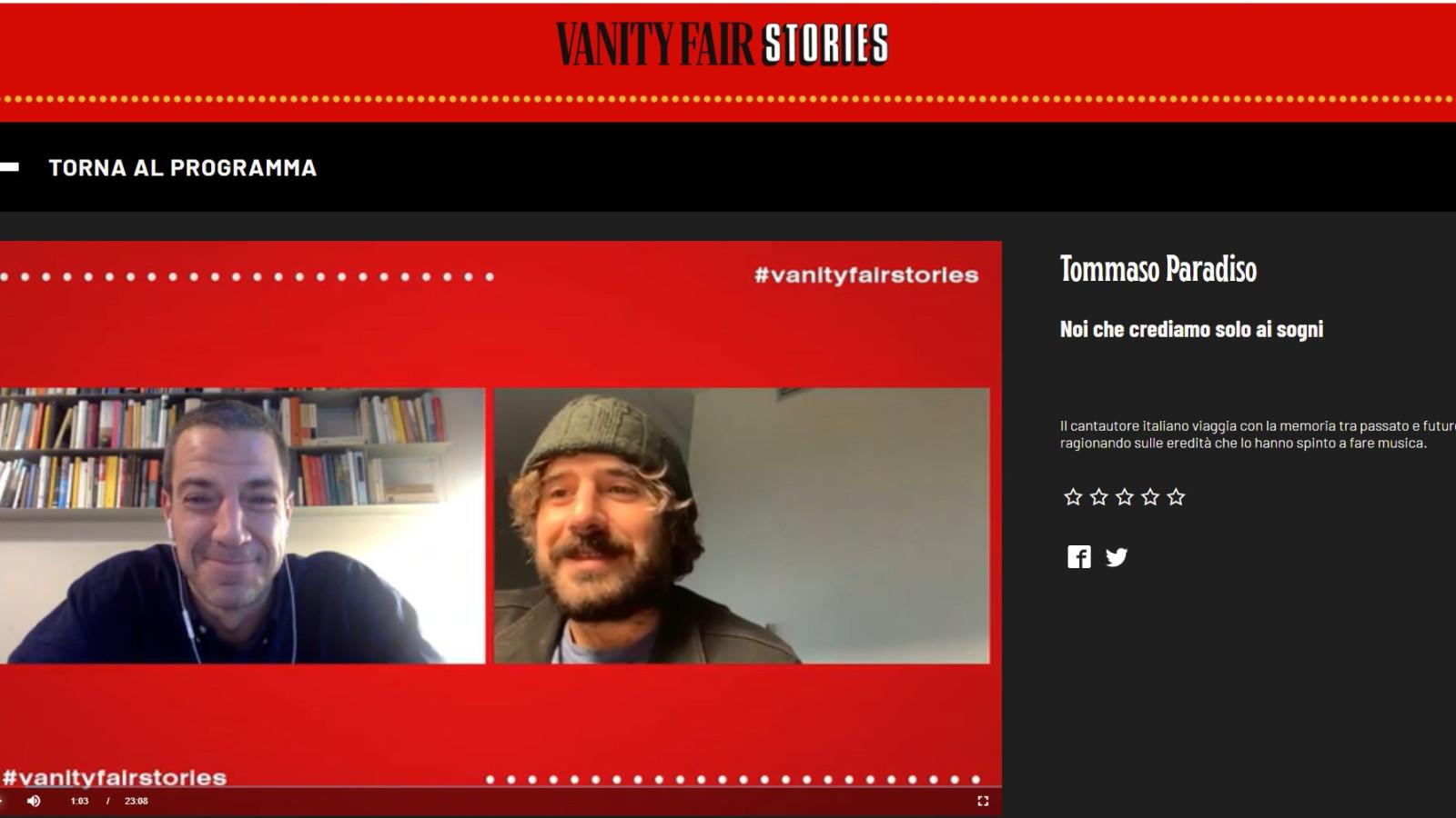 TOMMASO PARADISO SPEACH - Benedetta Malavasi - Italy - Vanity Fair Stories