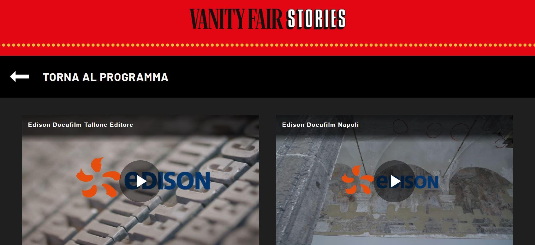 Edison VFS - Benedetta Malavasi - Italy - Vanity Fair Stories - Sponsor 1