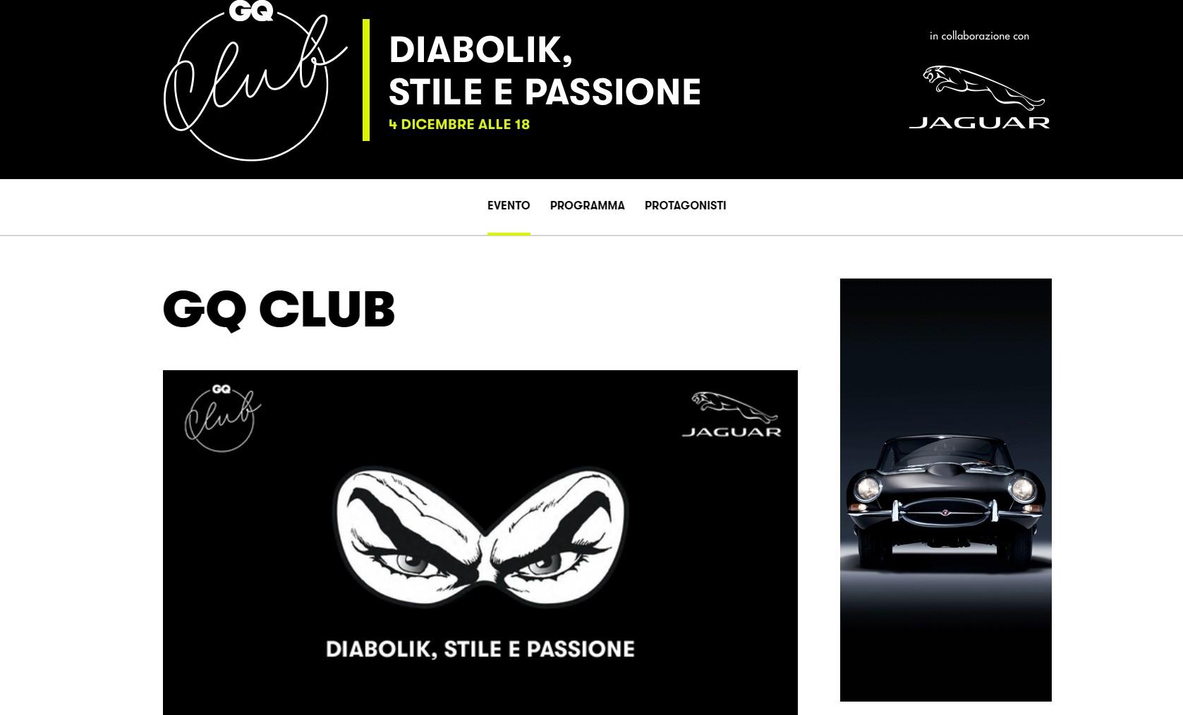 GQ CLUB JAGUAR - Benedetta Malavasi - Italy - GQ Club - Sponsor 1
