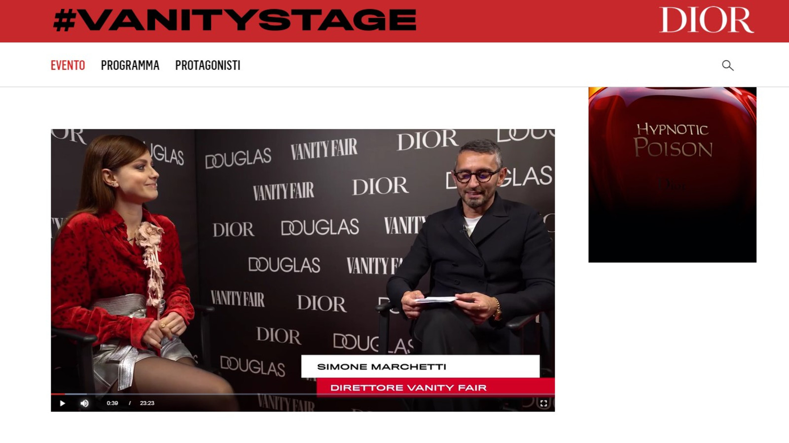 VF Stage VIDEO - Benedetta Malavasi - Italy - Vanity Fair Stage