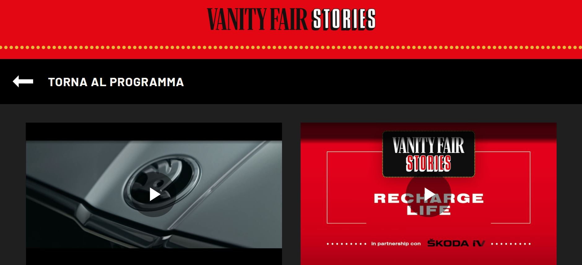 Skoda VFS 2 - Benedetta Malavasi - Italy - Vanity Fair Stories - Sponsor 2