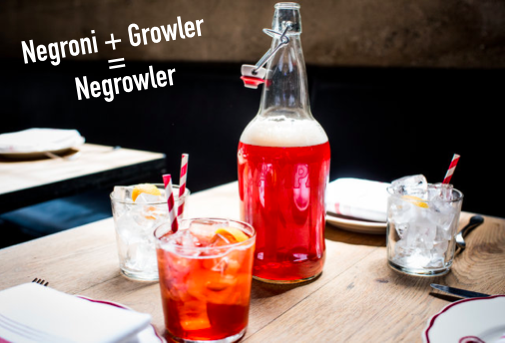 Negroni + Growler