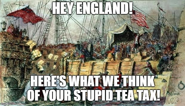 Бостонское Чаепитие  —  кратко и ясно о «Boston Tea Party»