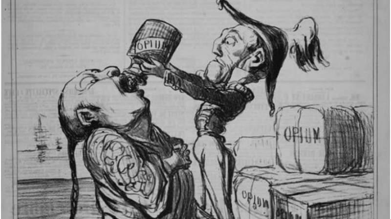 опиумные войны карикатура