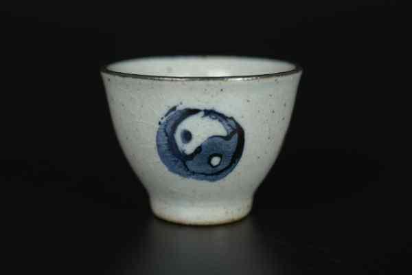 Керамическая чайная пиала Инь Ян
