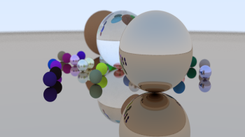 generated 3d image from the raytracer