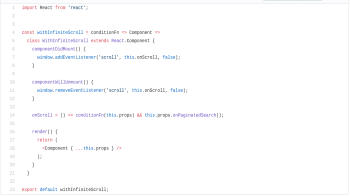 Screenshot of the source code