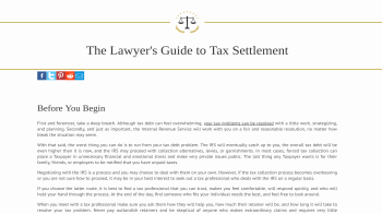 Tax Settlers website screenshot