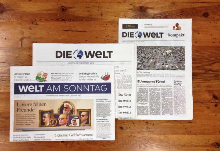 "New Logo for ""Die Welt"" and ""Welt am Sonntag"""