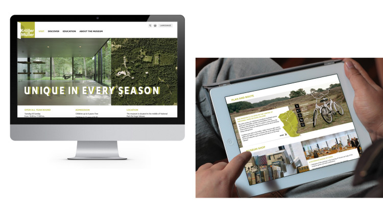 The website helps visitors to prepare their journey to the museum.