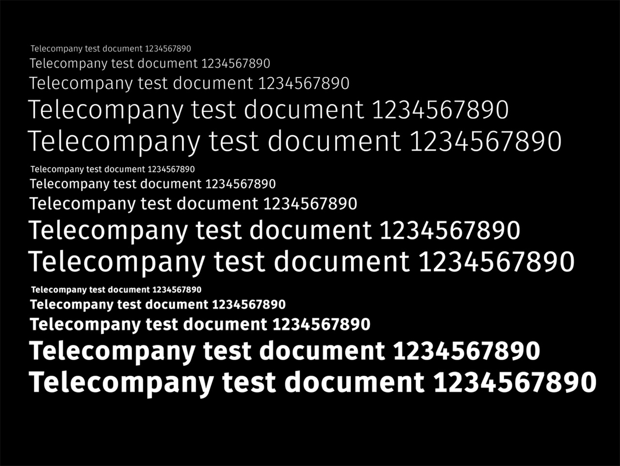 6 Telecompany test document