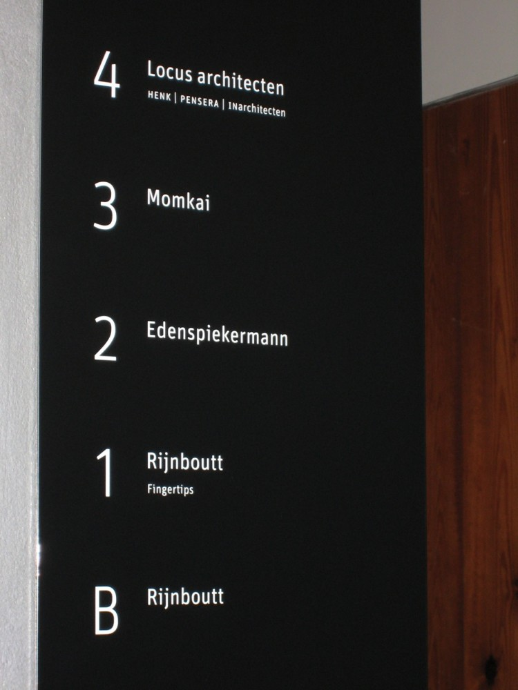 New signage for the Amsterdam office