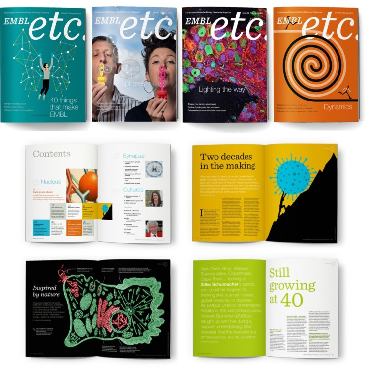 The EMBLetc. newsportal, news.embl.de and the printed magazine