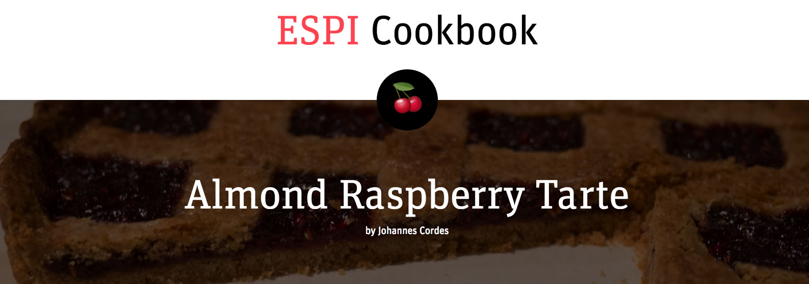 Screenshot ESPI Cookbook