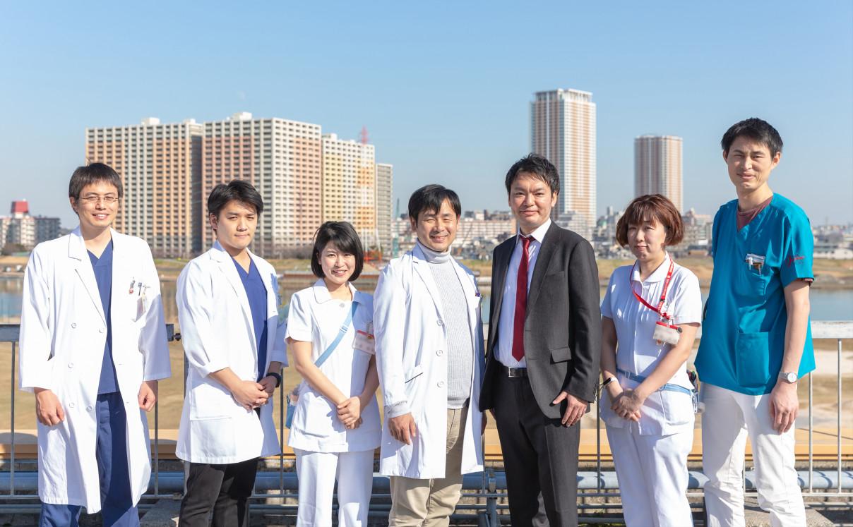 江戸川病院の皆様と太田の写真