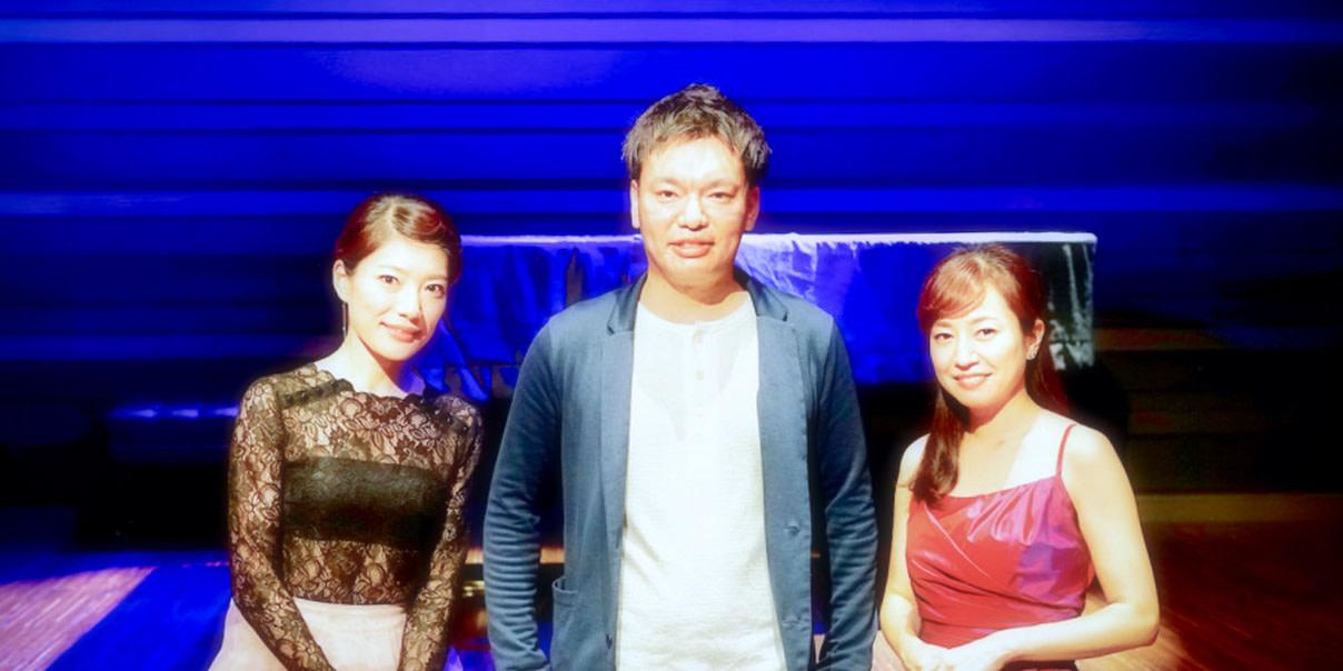須藤千晴さん、奥村愛さんと太田の写真
