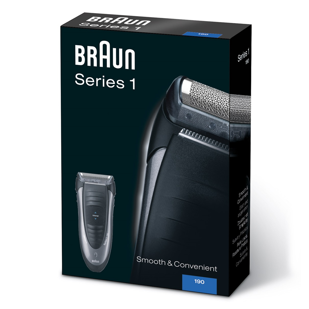 Braun Series 1 190s shaver - packaging