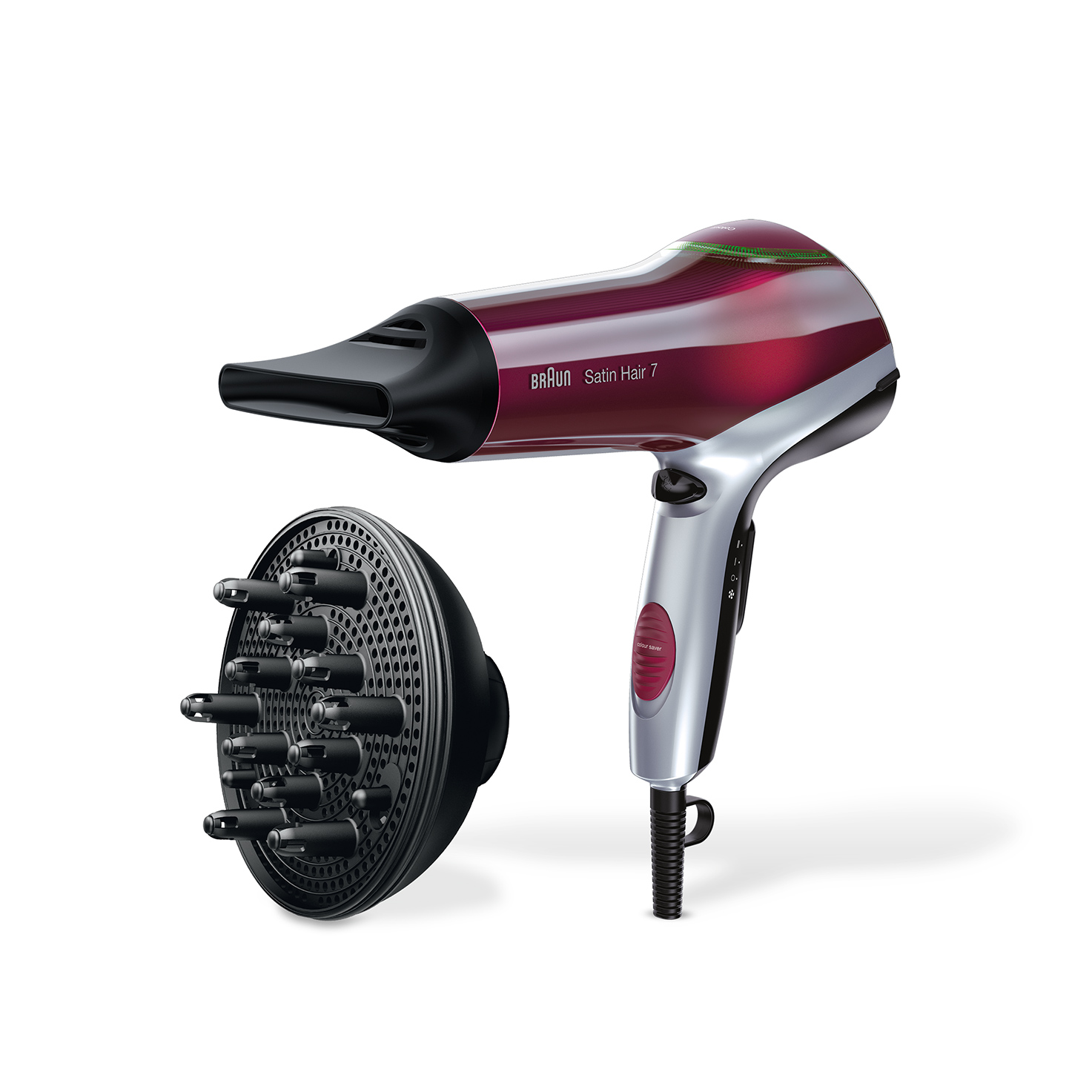 Braun Satin Hair 7 HD770 with Colour Saver technology and diffuser