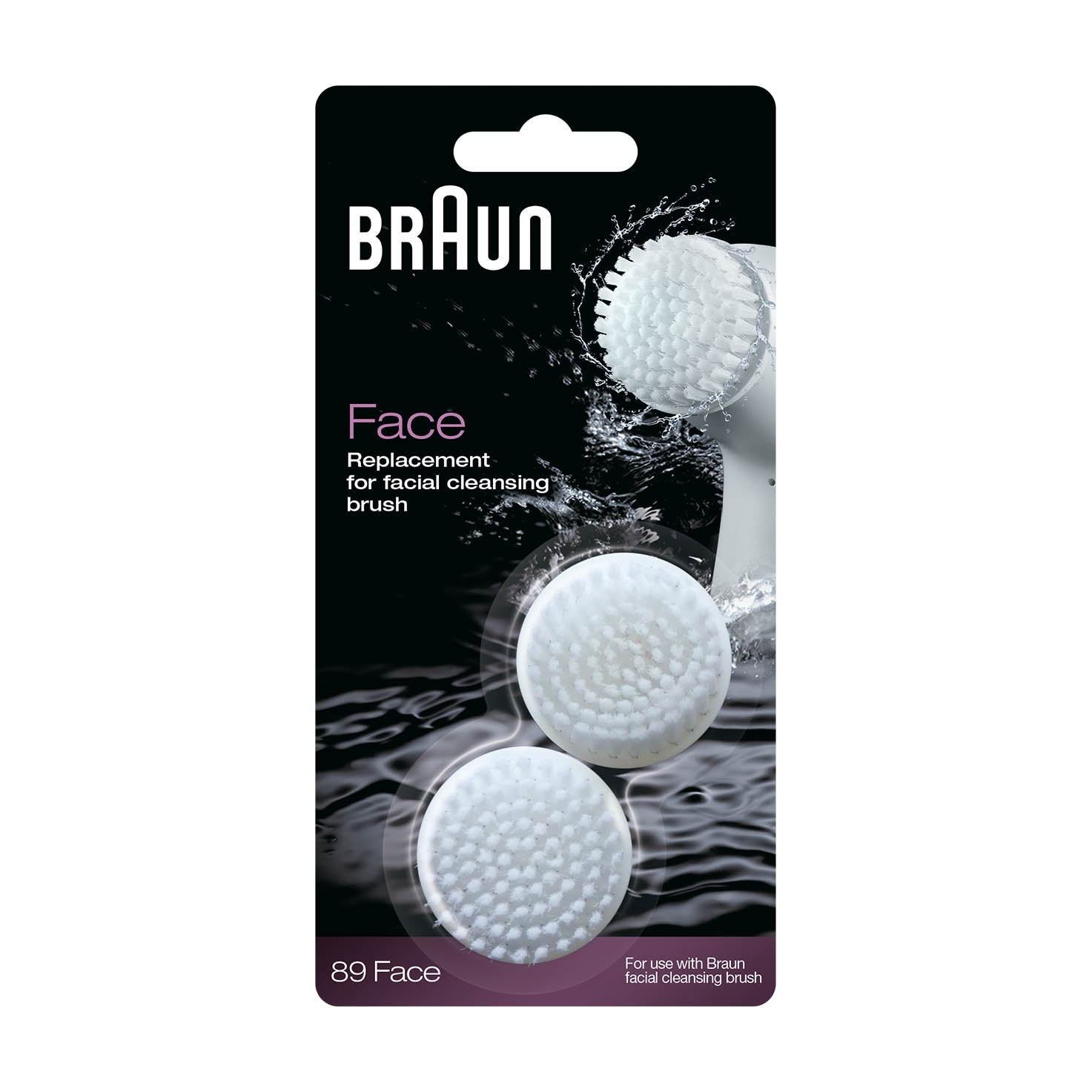 Braun facial cleansing brush refill duo pack