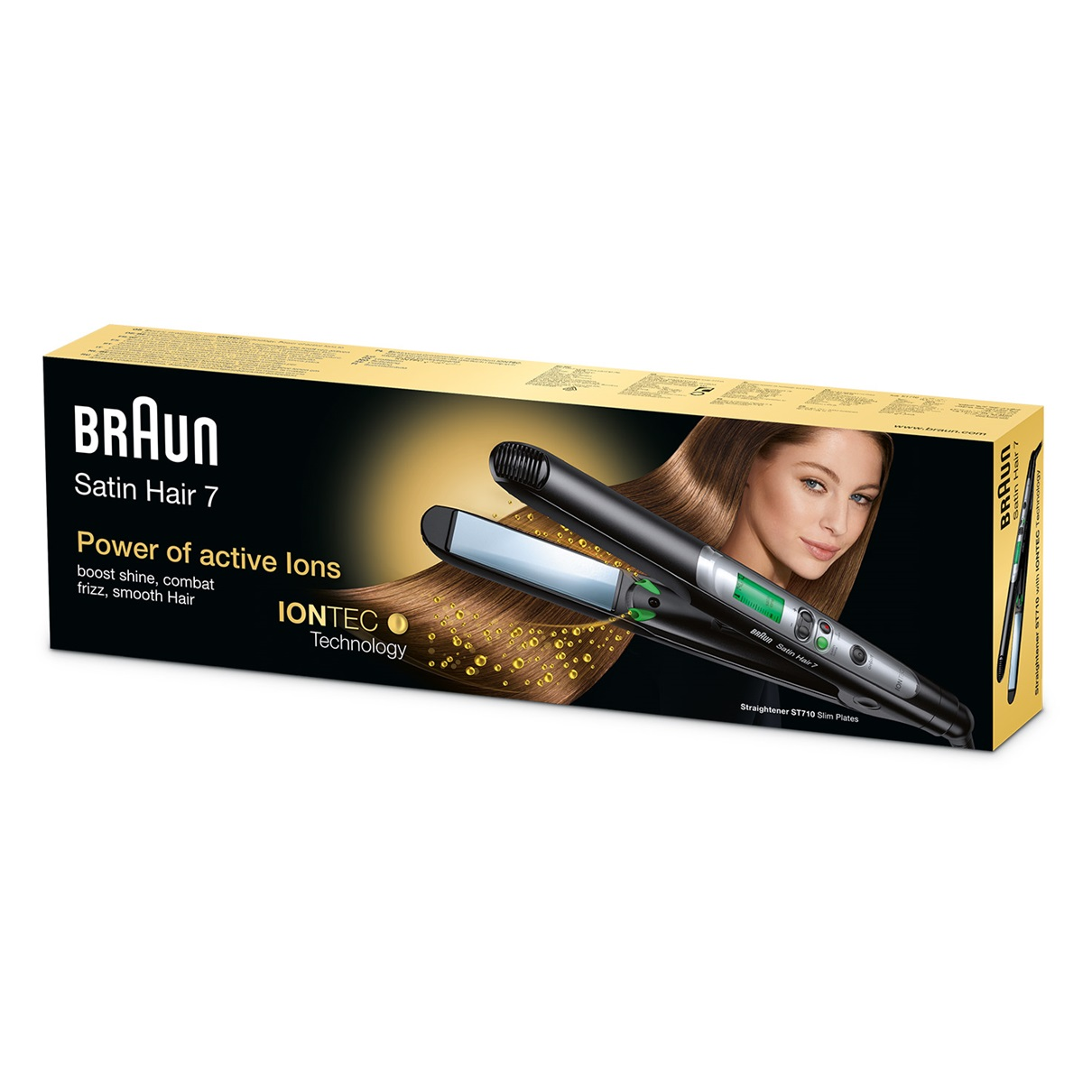 Braun Satin Hair 7 IONTEC straightener ST710 - packaging