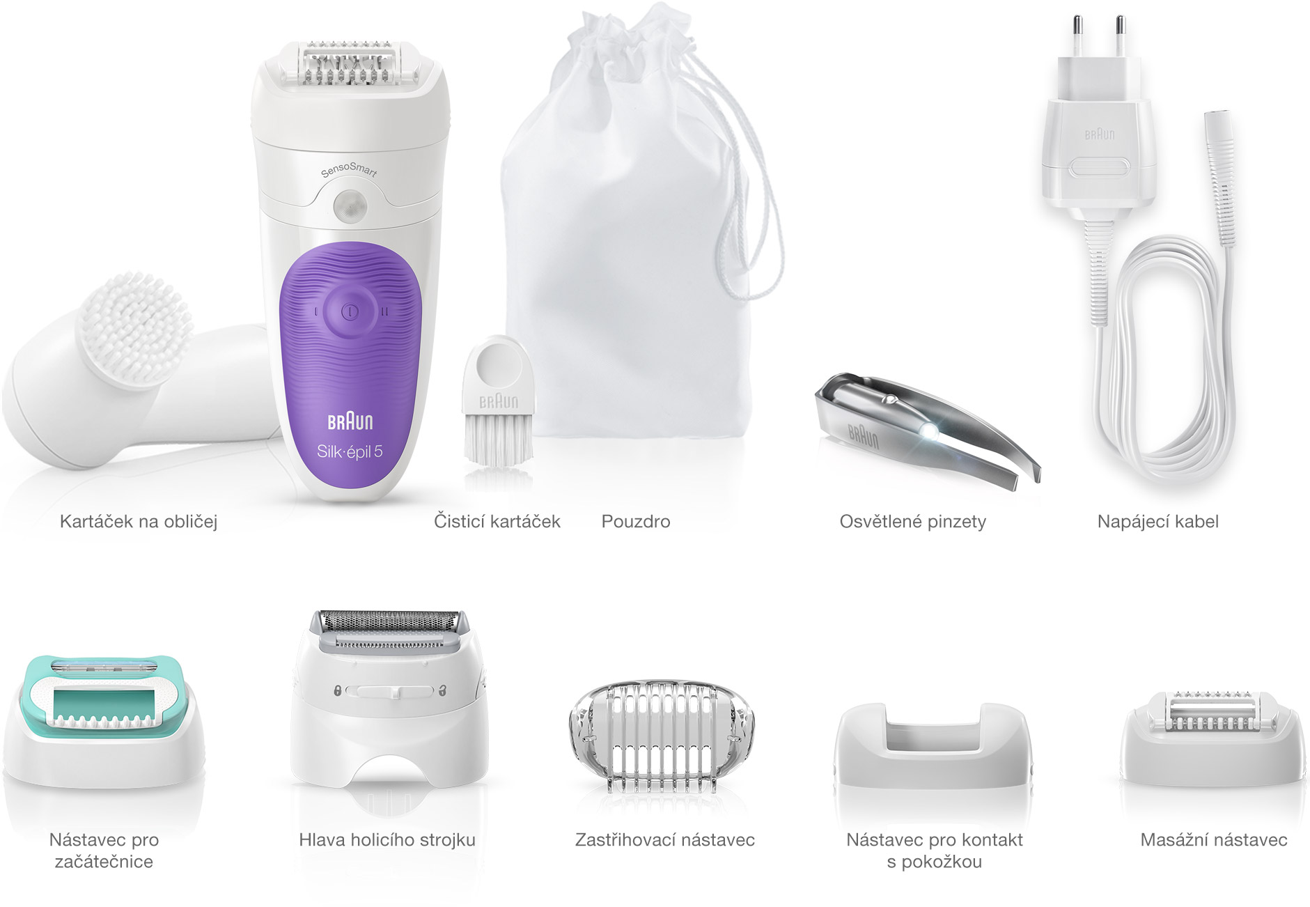 Braun Silk-épil 5 epilator – What's in the box