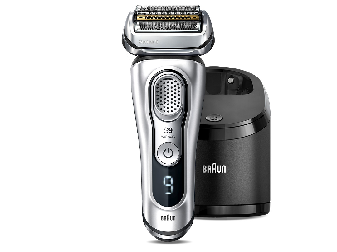 Series 9 Wet & Dry shaver with Clean & Charge System, silver