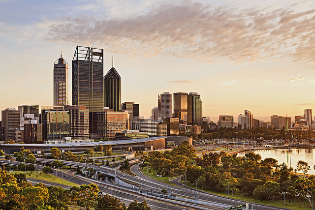 How many suburbs are there in perth