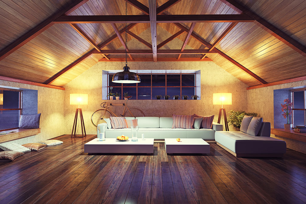 modern-interior-loft-in-the-evening