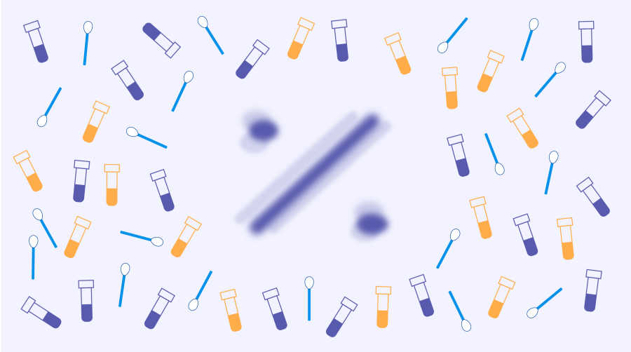 Illustration of test swabs and vials