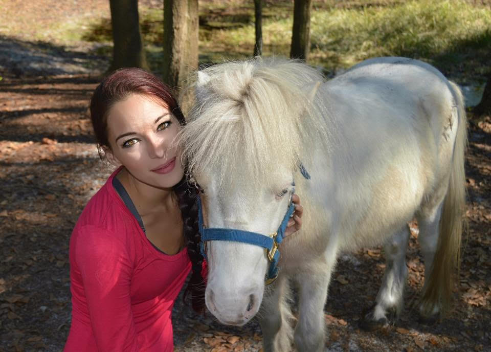 Jenna with rescue pony