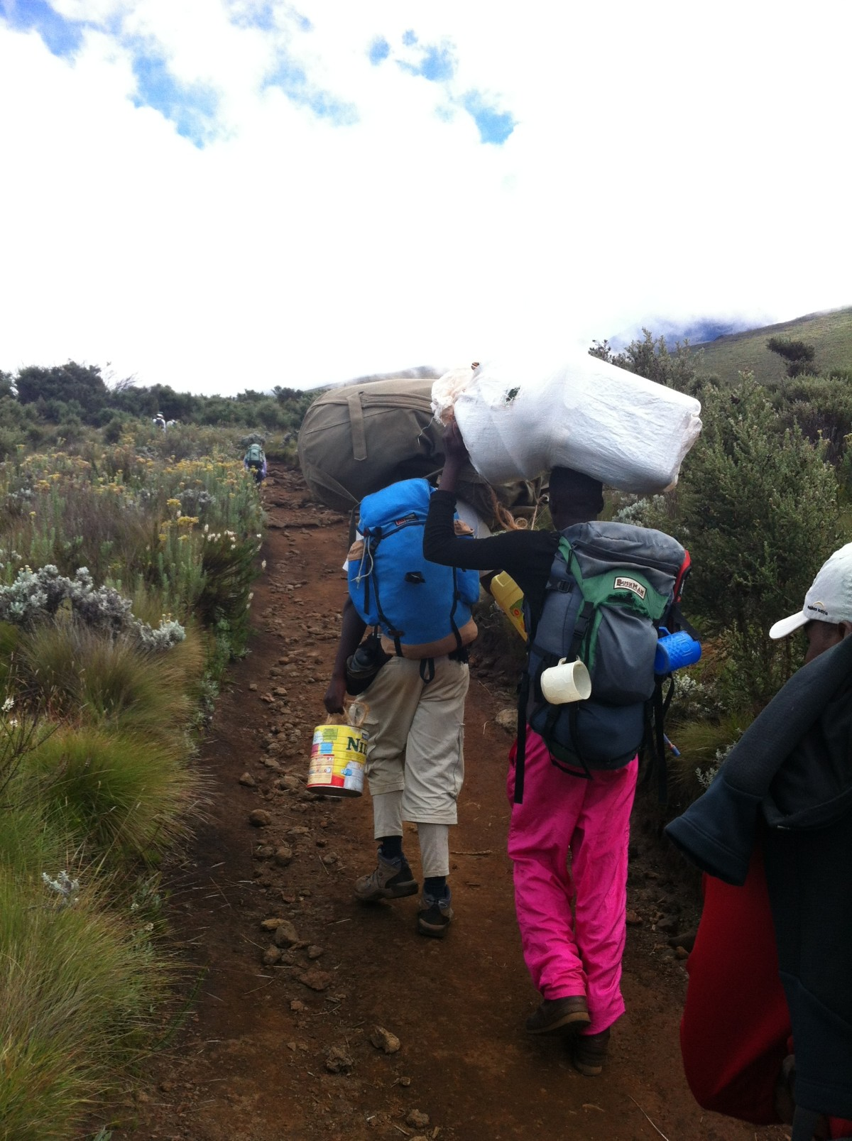 kilimanjaro carrying gear