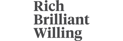 Rich Brilliant Willing Logo Dark