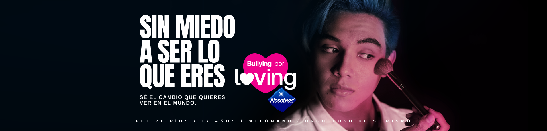 Banner lanzamiento campaña Bullying for Loving