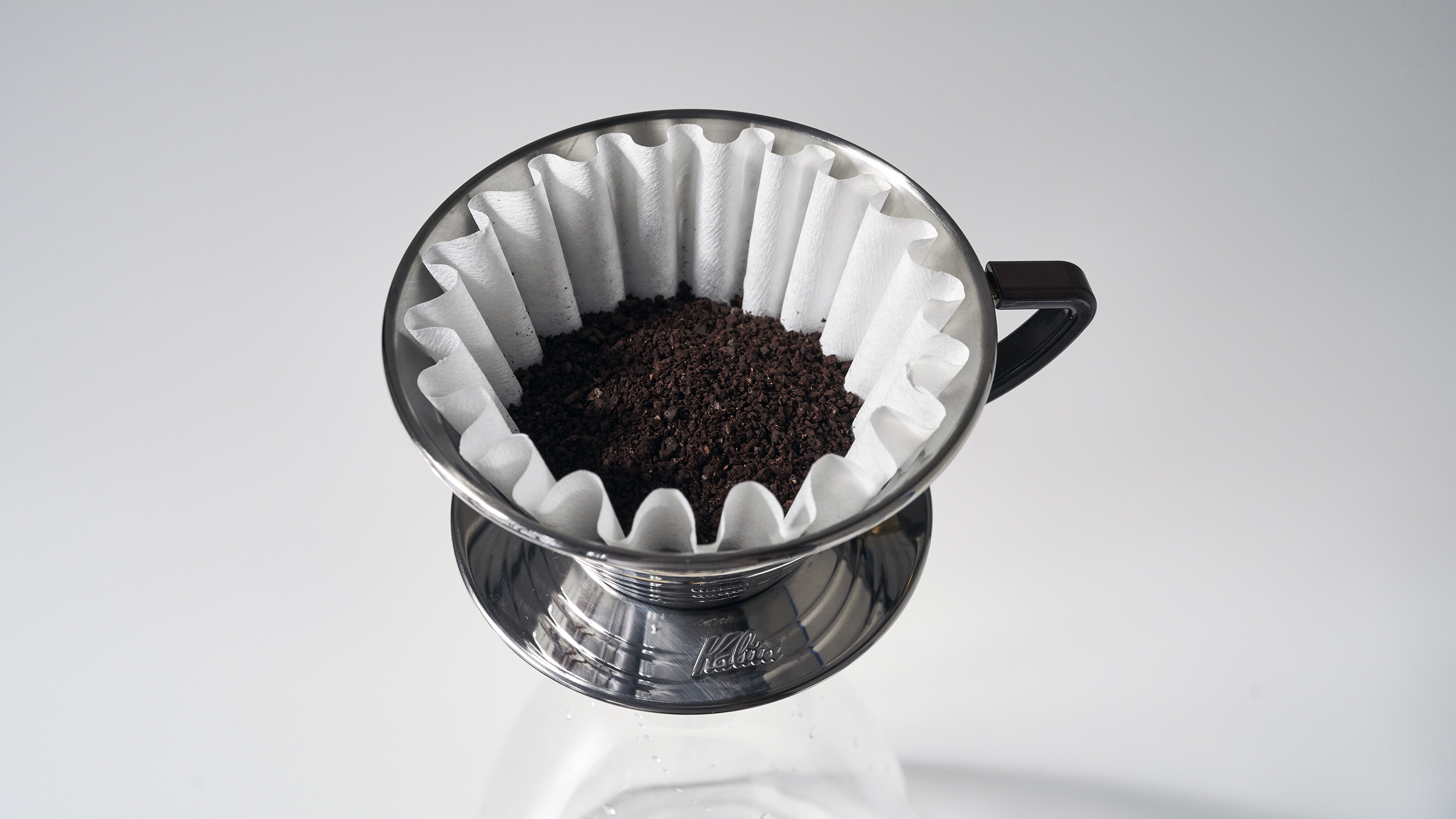 Add Coffee Filter & Grounds