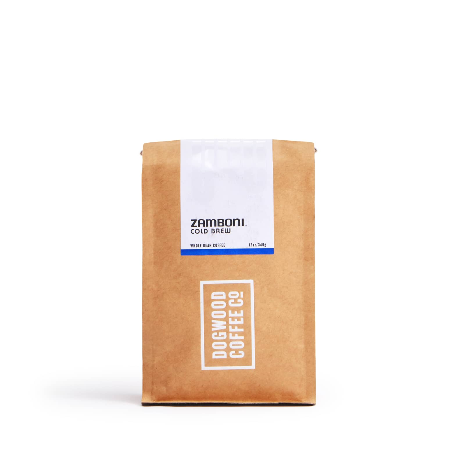Dogwood zamboni cold brew coffee bag