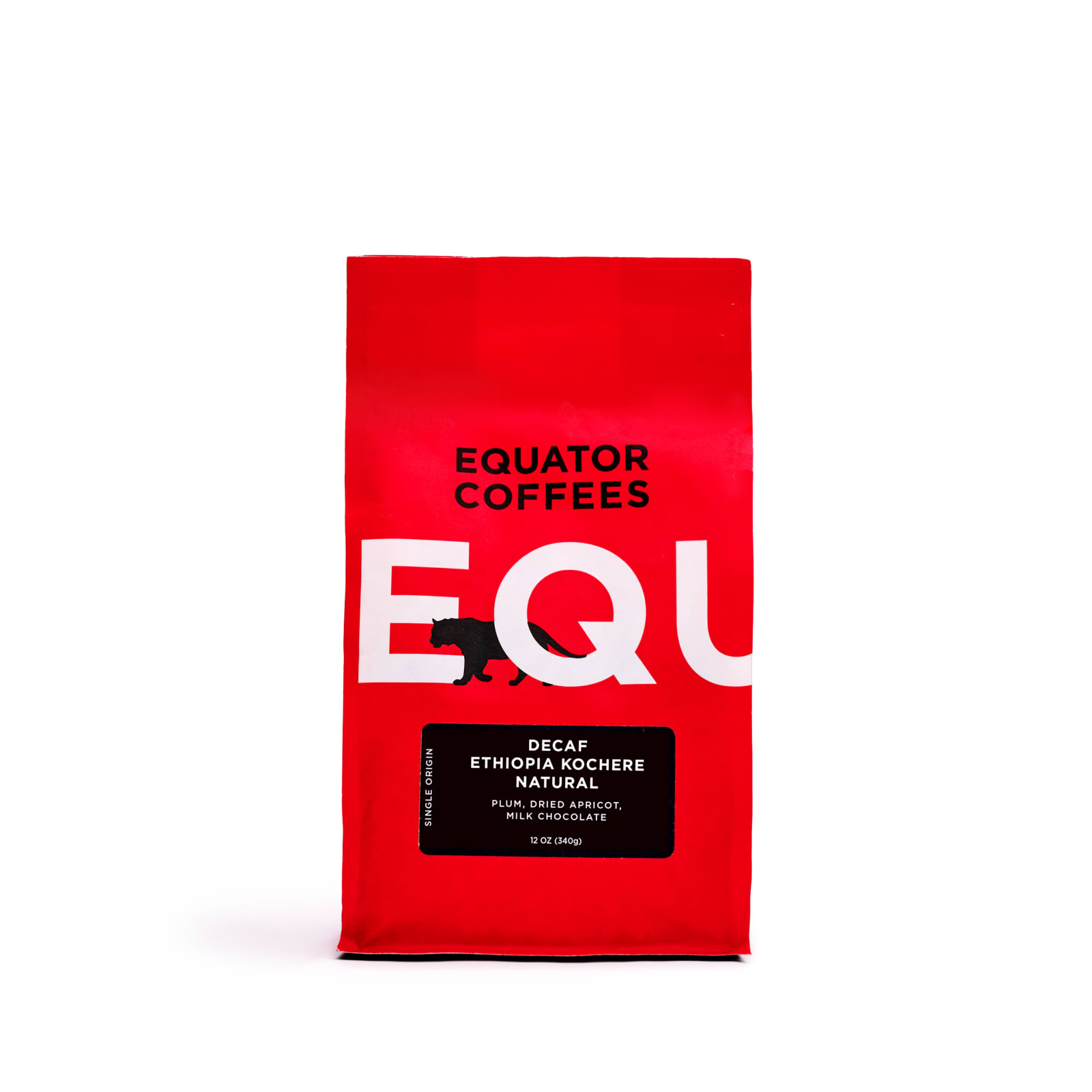 equator decaf coffee bag