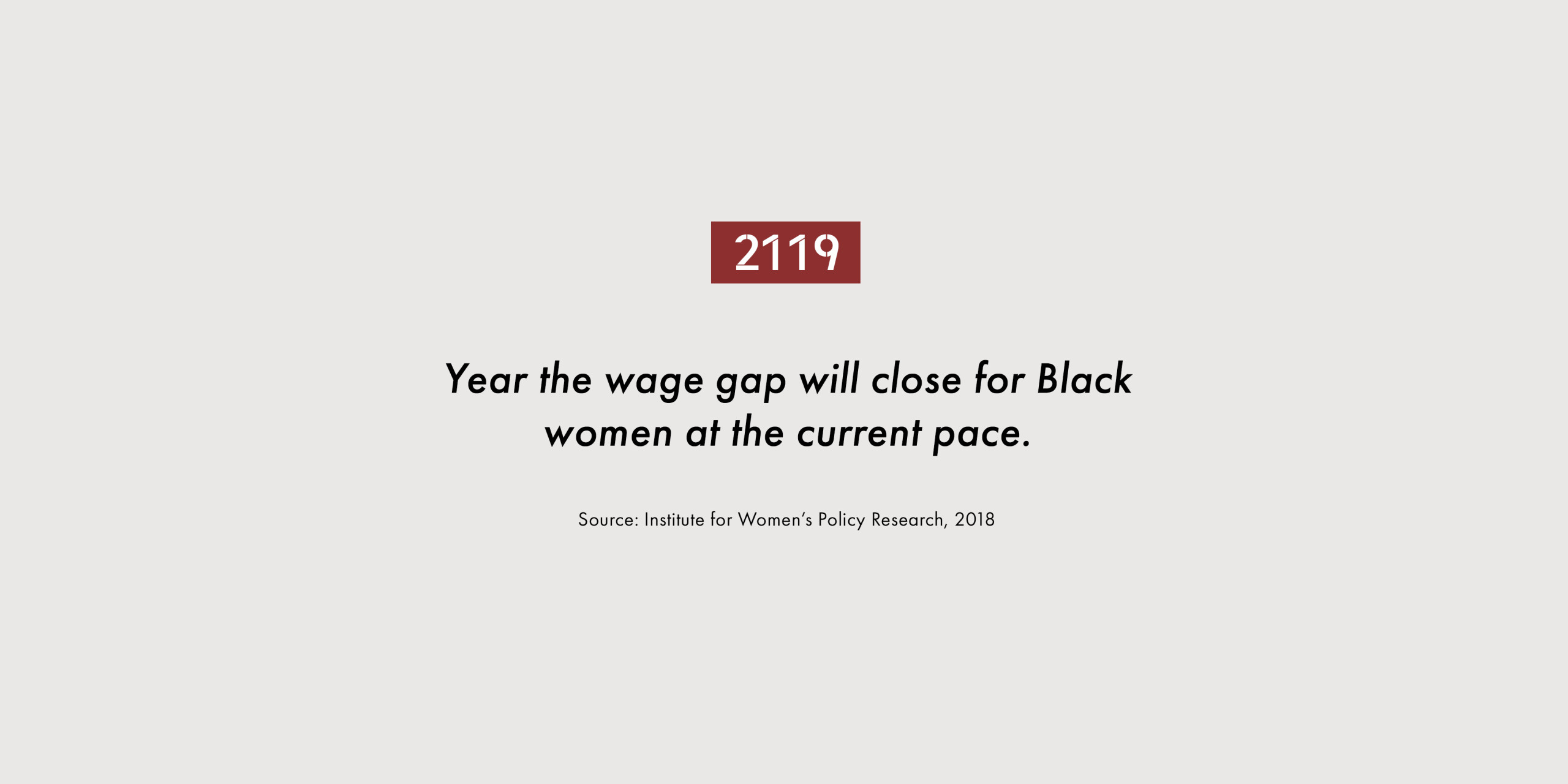 2119. Year the wage gap will close for Black women at the current pace.