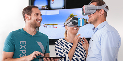 Guide audience through VR and 360 content for sales & marketing