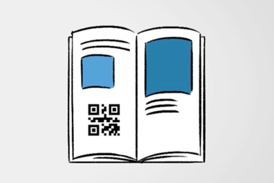 QR & print media integration of 360 content