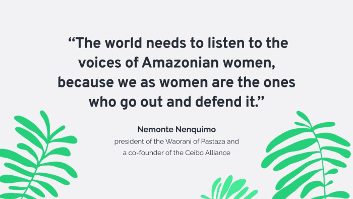 The world needs to listen to the voices of Amazonian women.