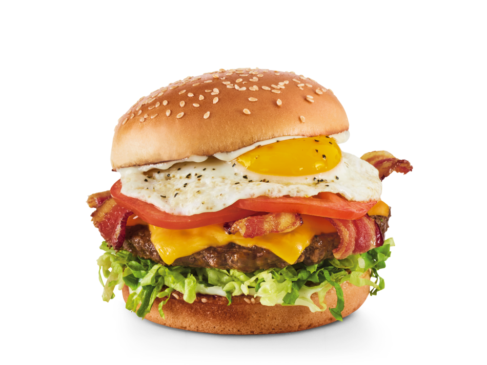 Hardwood-smoked bacon, egg*, American cheese, lettuce, tomatoes and mayo.