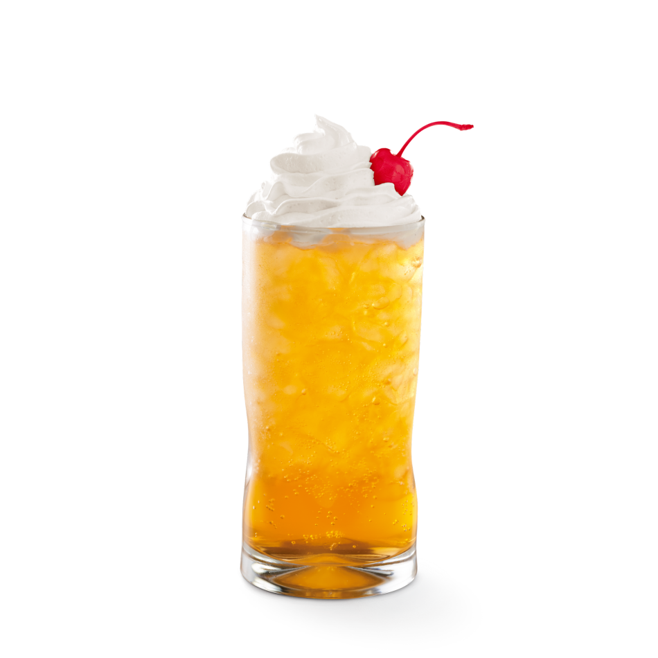 Orange Cream flavor mixed with Sprite® and topped with whipped cream.