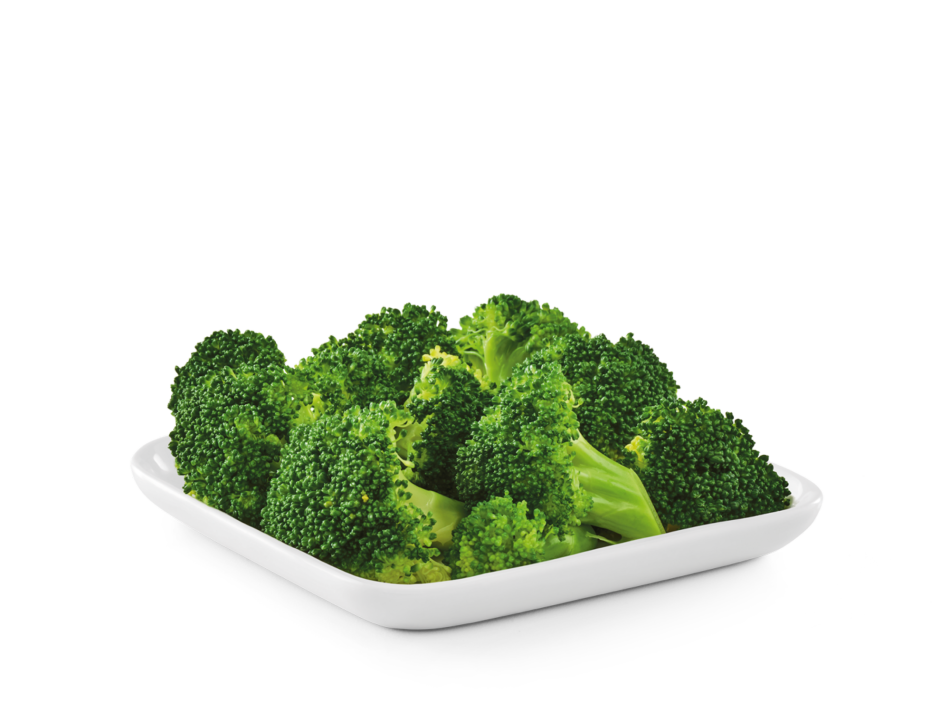 Fresh broccoli, steamed to perfection.