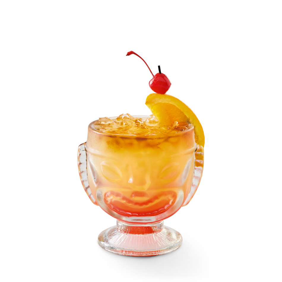 Myers's® Dark and Bacardi® Black rums, orange curaçao, fruit juice, grenadine and sweet and sour.