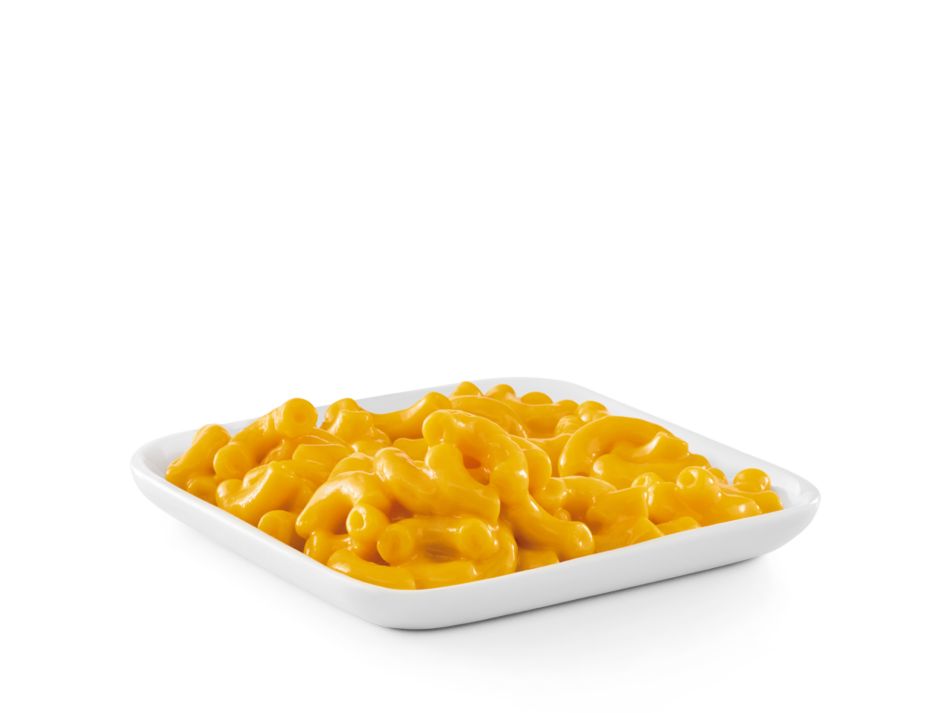 Macaroni and creamy cheese sauce. Includes Bottomless side and beverage.