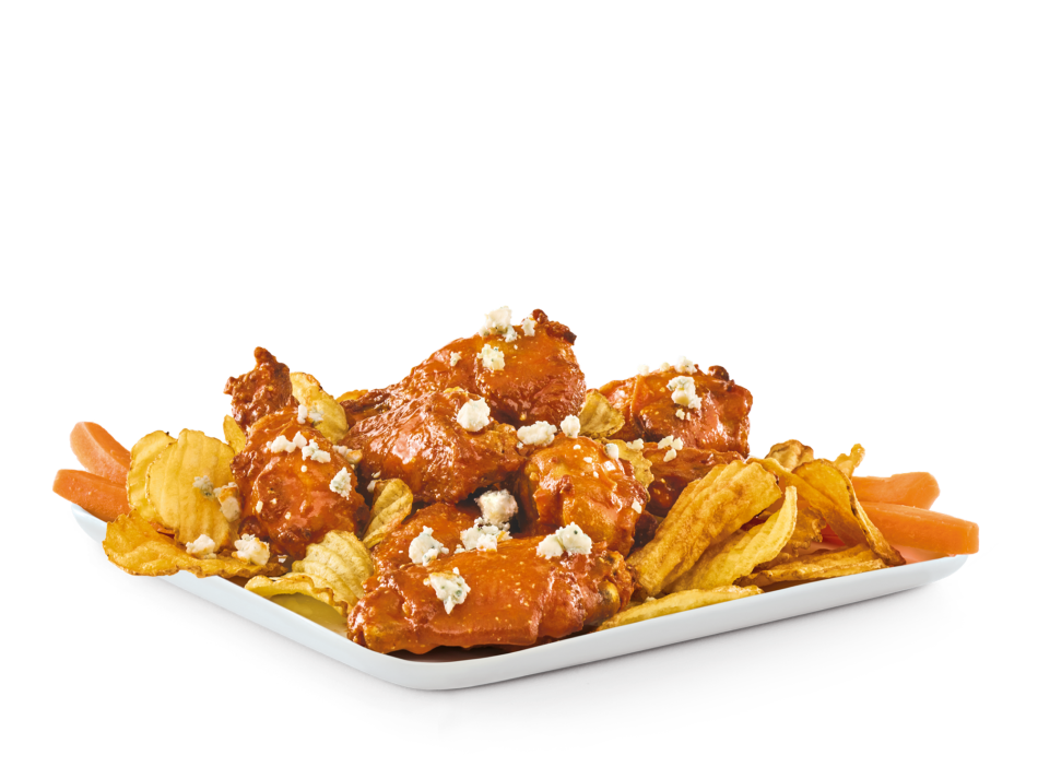 Bone-In Bar Wings with your choice of sauce: Buzz with bleu cheese, Whiskey River® BBQ, Banzai, or Island Heat.