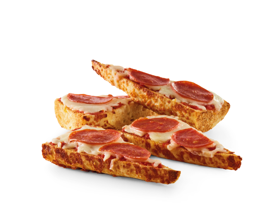 Pepperoni pizza, includes Bottomless side and beverage.