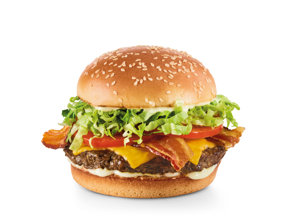 Hardwood-smoked bacon, lettuce, tomatoes, mayo and choice of cheese.