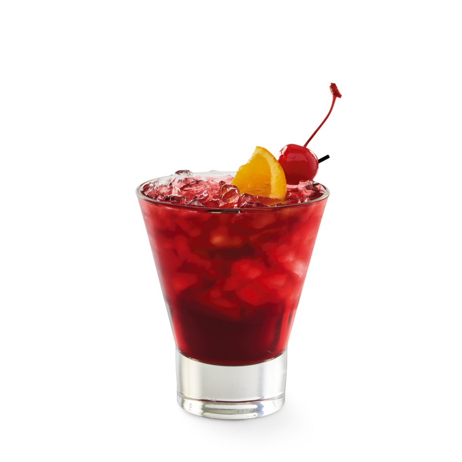 Beso Del Sol® Red Sangria made from all-natural Spanish grapes, fresh blood orange and lemon juices and a dash of cinnamon.