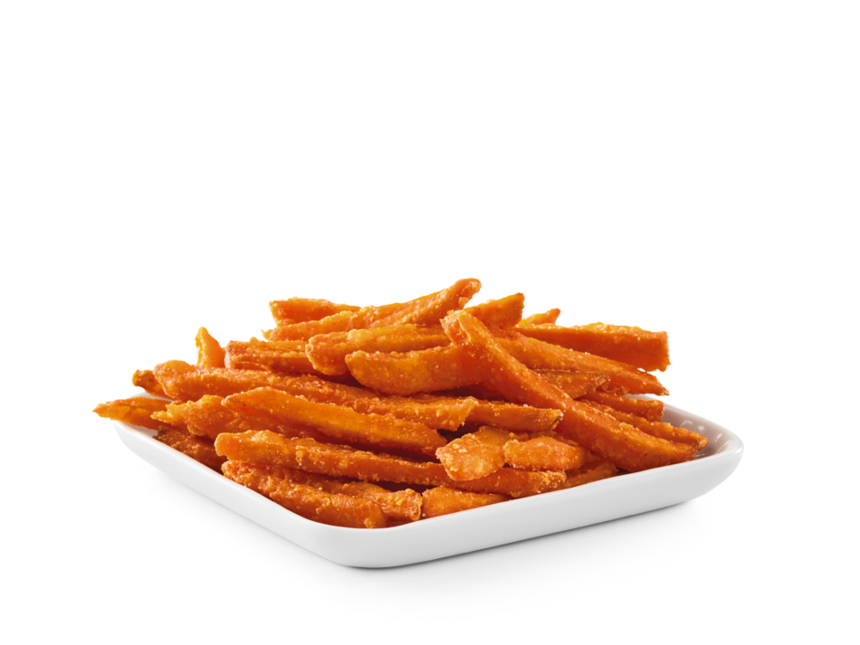 Thin cut sweet potatoes fried to perfection with a dash of salt.